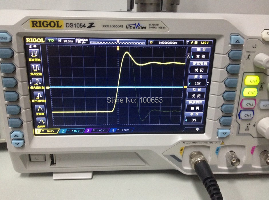 RIGOL DS1054Z 50MHz Digital Oscilloscope 4 analog channels 50MHz bandwidth шлифмашина угловая bosch gws 13125 cie 0 601 794 0r2