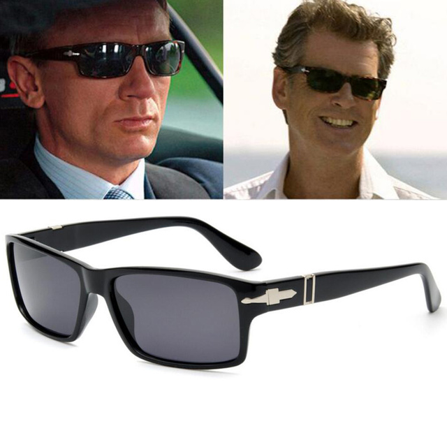 dc01f74f48b LVVKEE brand Vintage Men Polarized Driving Sunglasses Mission Impossible 4 Tom  Cruise James Bond Style Rectangular Sun Glasses