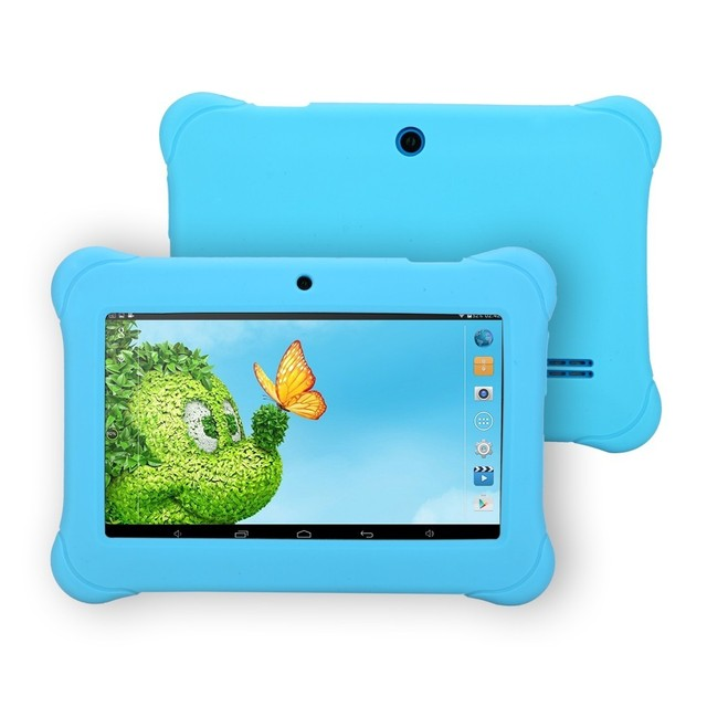 iRULU 7 » Baby Tablet  PC 1024*600 HD Android 4.4 Quad Core 1G RAM+8G ROM WIFI G-Sensor Dual Cameras Candy Color Gift for Baby