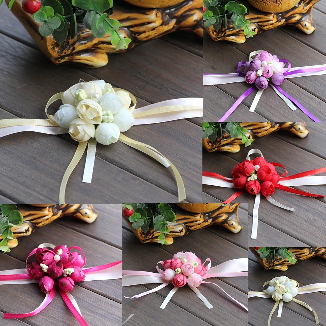 Hot Sale Wedding Ornaments Silk Bridal Bridesmaid Handmade Bouquet