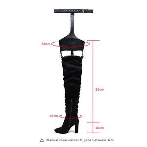 Image 5 - MStacchi bottes dhiver Rihanna bottes pour enfants, bottes dhiver au dessus du genou, sangle à talons, bout pointu, talon carré, fermeture éclair en caoutchouc