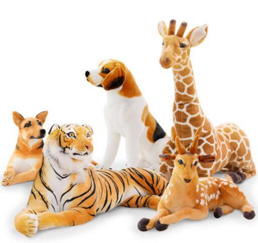 Many large simulation plush toys leopard lion tiger giraffe fawn dog toy doll фурминатор для собак короткошерстных пород furminator short hair large dog