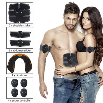 2/4/6/8pcs Wireless Hip Trainer Abdominal machine electric muscle stimulator ABS ems Trainer Body slimming Massage Belt Unisex