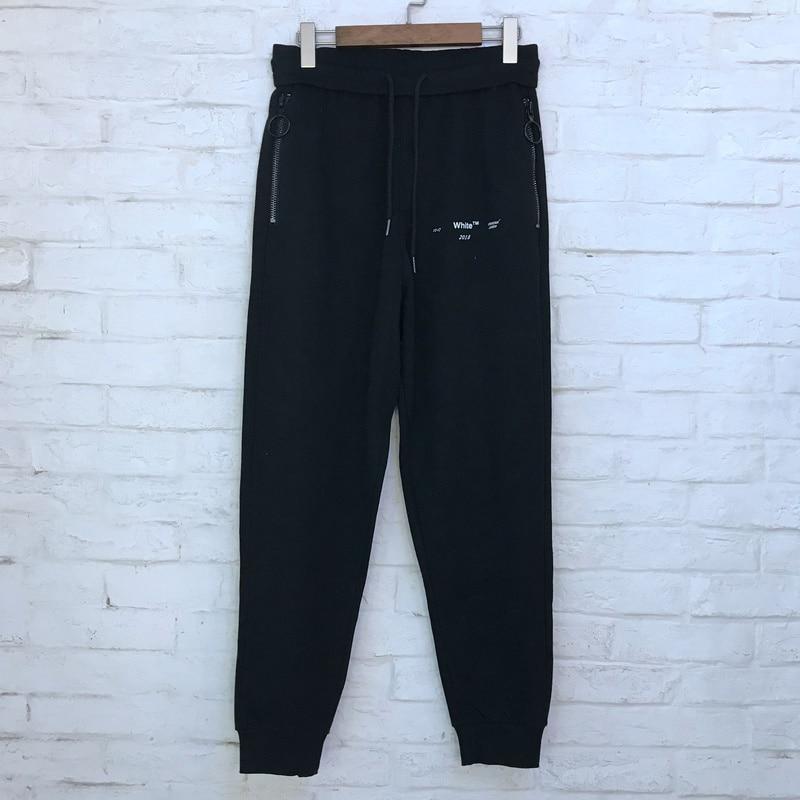 Flèche Coton Noir Imprimé Streetwear Hiphop 2018 Hommes Joggeurs Xieruis Jogger Jaune Pantalon gris Femmes wvn7qC