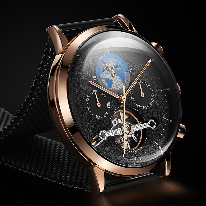 AILANG Swiss registered men s watch 2018 new automatic mechanical watch physical formula waterproof sport fashion