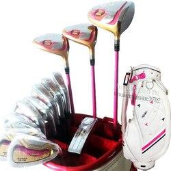 Новинка; женские ботинки на 4 звезды клюшки для гольфа Хонма S-06 клюшки для гольфа, полные комплекты Набор для игры в гольф диск fairway Wood Утюги к...