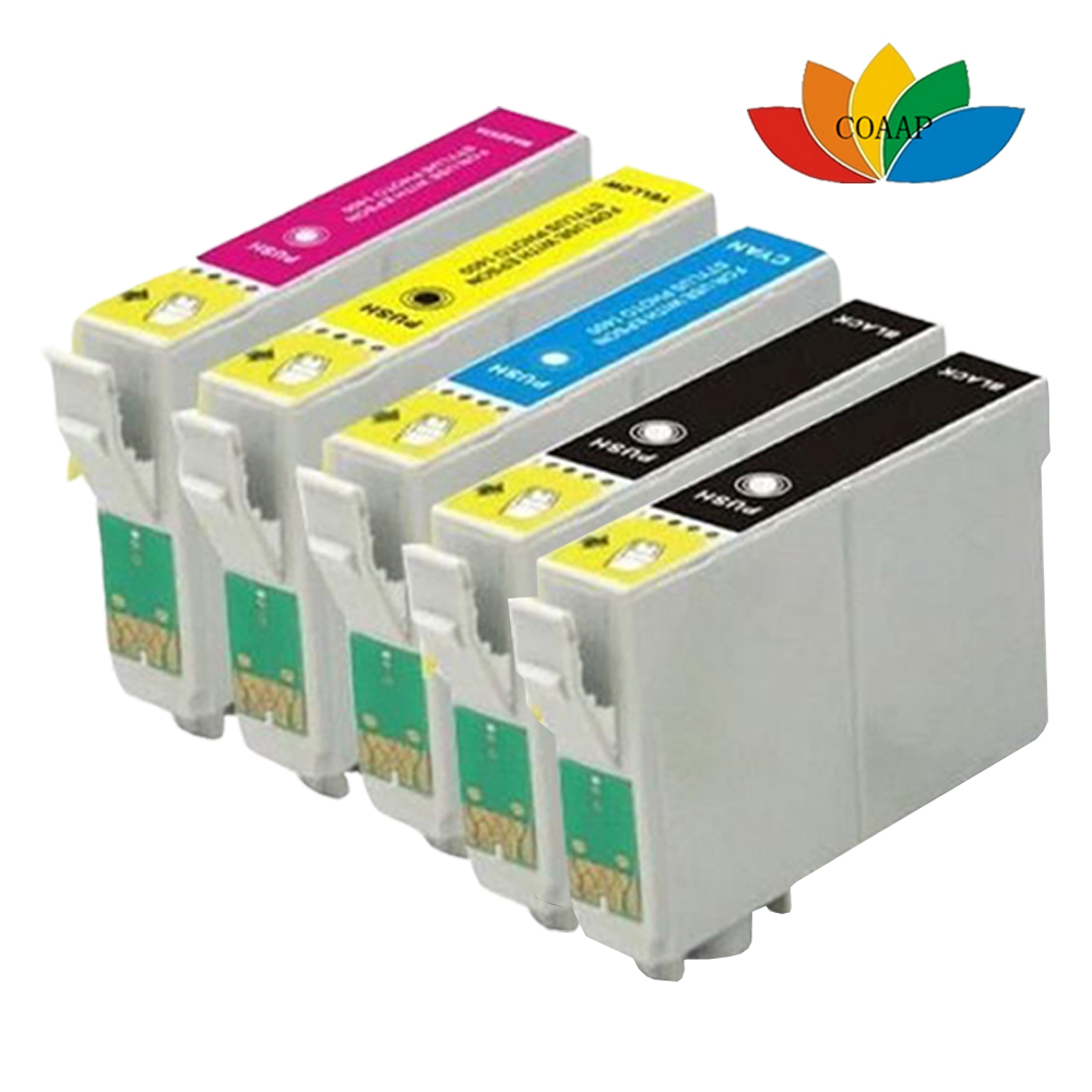 5pack Compatible EPSON fox T1285 multi Ink Cartridges for Epson Stylus SX125 SX130 SX230 SX235W SX420W SX425W Printer