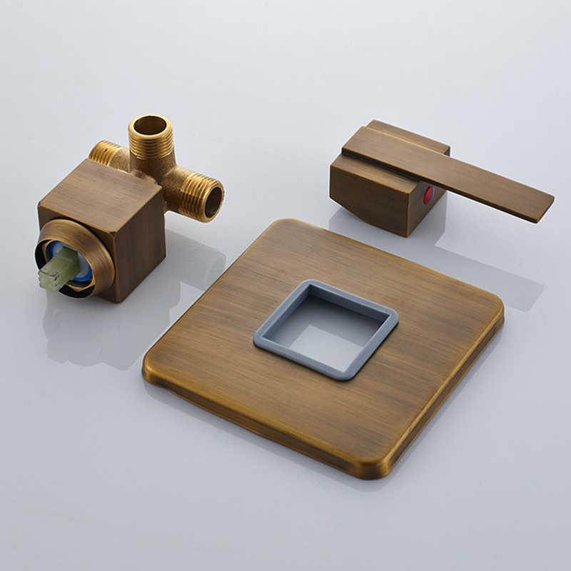 Katı pirinç duş karıştırıcı kontrol vanası musluk kartuşu gizli duş musluk vana duş kontrol anahtarı vana
