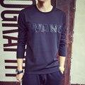 Футболка мужчины Пространство хлопок Тонкий срез Ван мма для мужчины футболка повседневная Мода повседневная одеть С Длинным рукавом хип-хоп camisetas