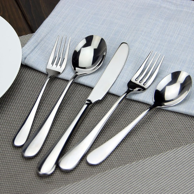 High Quality Flatware 13/0 Stainless Steel Table Knife Fork Spoon ...
