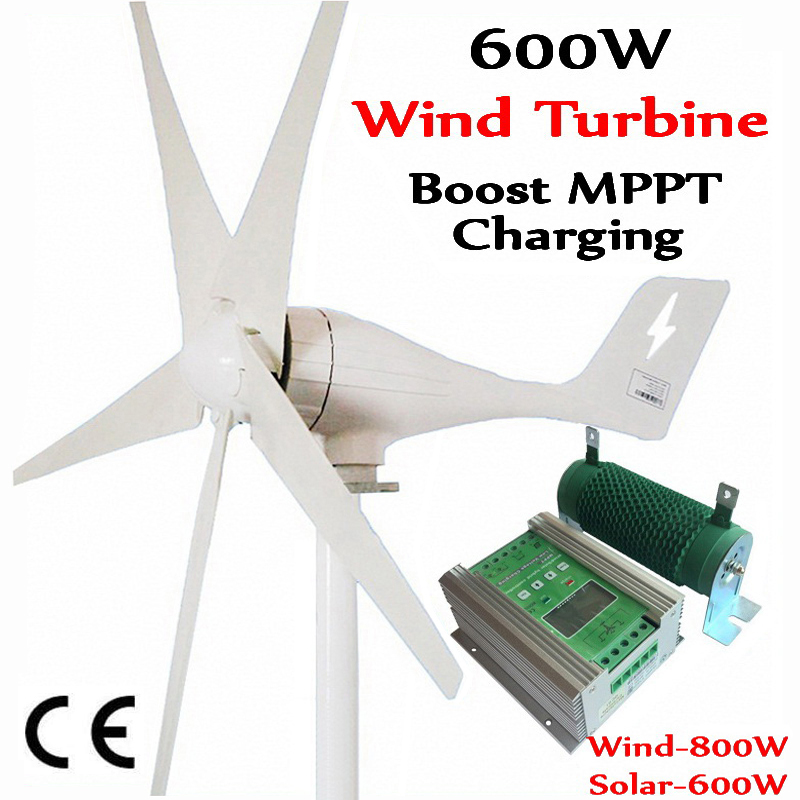 600W  wind generator MAX 830W wind turbine+1400W MPPT hybrid charge controller for 800W wind turbine generator+600W solar panels-in Alternative Energy Generators from Home Improvement    1