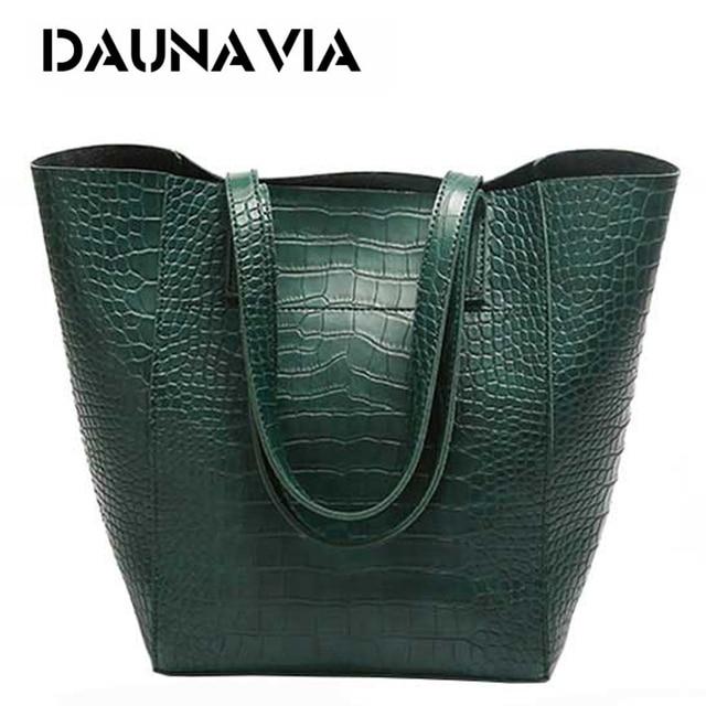 DAUNAVIA ผู้หญิงจระเข้กระเป๋ากระเป๋าถือ Crossbody กระเป๋าสำหรับสุภาพสตรีกระเป๋า Messenger กระเป๋าออกแบบกระเป๋าถือหนัง