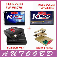 2017 Newly ECU Programmer KTAG V2.13 FW V6.070+KESS V2 V2.23+FGTECH V54 Galletto 4 FG TECH+BDM FRAME Full Adapters DHL Freeship