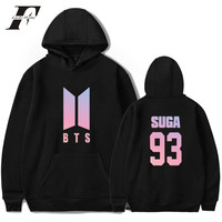 Love Yourself Harajuku Hoodies Men Korea Pop Bangtan Hip Hop Fashion Sweatshirt Men BTS Kpop DNA