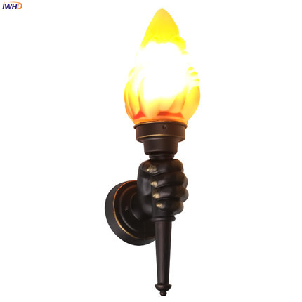 Image 4 - IWHD Europe Torch Vintage Wall Light Home Lighting Blacony Corridor LED Wall Lights Fixtures Sconce Luminaire Lampara Pared-in LED Indoor Wall Lamps from Lights & Lighting