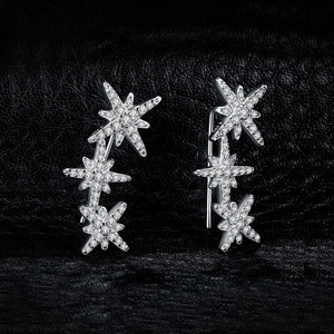 Image 2 - JewelryPalace ستار زركون هوب أقراط 925 فضة أقراط للنساء أقراط الكورية مجوهرات الأزياء 2020