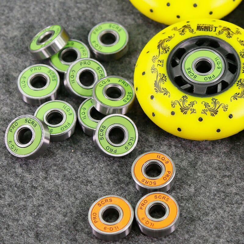 8x ABEC-9 608 2RS Inline Roller Skate Wheel Bearing Anti-rust Skateboard Wheel Bearing Roller Skating 8x22x7mm Shaft