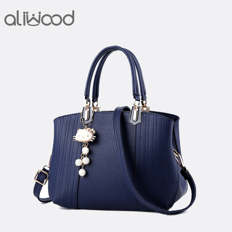 Aliwood Women bag Europe Fashion New Handbags PU Leather Casual Simple Tote Ladies Shoulder Bags Females Crossbody Bags with cat europe style hollow out handbags women pu leather crossbody shoulder bag