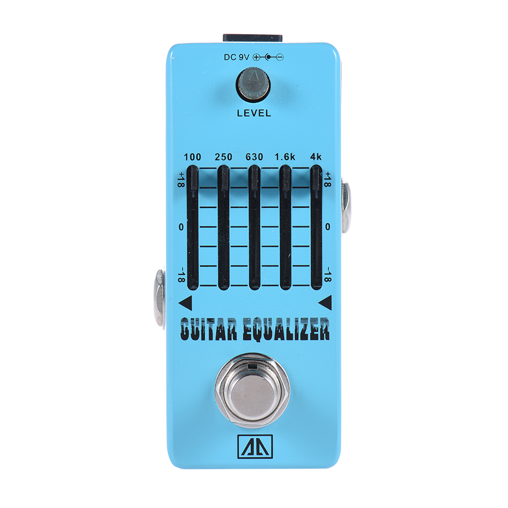 AROMA AEG-5 High Quality 5-Band Graphic EQ Guitar Equalizer Pedal With True Bypass Aluminum Alloy Body Guitarra Accessory aroma adl 1 true bypass delay electric guitar effect pedal high quality aluminum alloy guitar accessories delay range 50 400ms