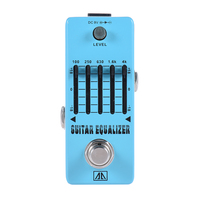 AROMA AEG 5 High Quality 5 Band Graphic EQ Guitar Equalizer Pedal With True Bypass Aluminum Alloy Body Guitarra Accessory
