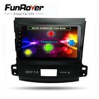 Funrover 8cores 9Android8.0 Car dvd radio GPS navi multimedia for Mitsubishi Outlander 2006 2014 Peugeot 4007 Citroen C Crosser
