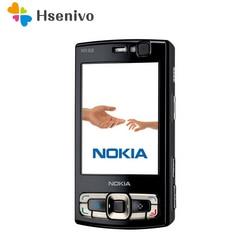 Oryginalny NOKIA N95 8GB telefon komórkowy 3G 5MP Wifi GPS 2.8 'ekran GSM odblokowany rosyjska klawiatura arabska klawiatura odnowiony