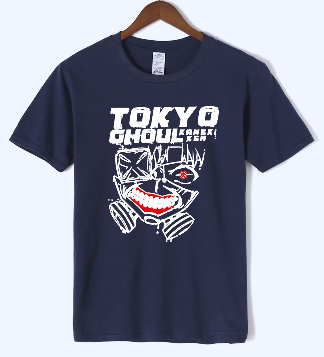 2019 summer T-shirt short sleeve Anime Tokyo Ghoul fashion cool men's T-shirts rocking hip hop style brand clothing tops tees