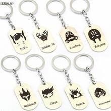 Overwatch keychains Genji Hanzo Reaper Tracer key ring zinc alloy jewelry