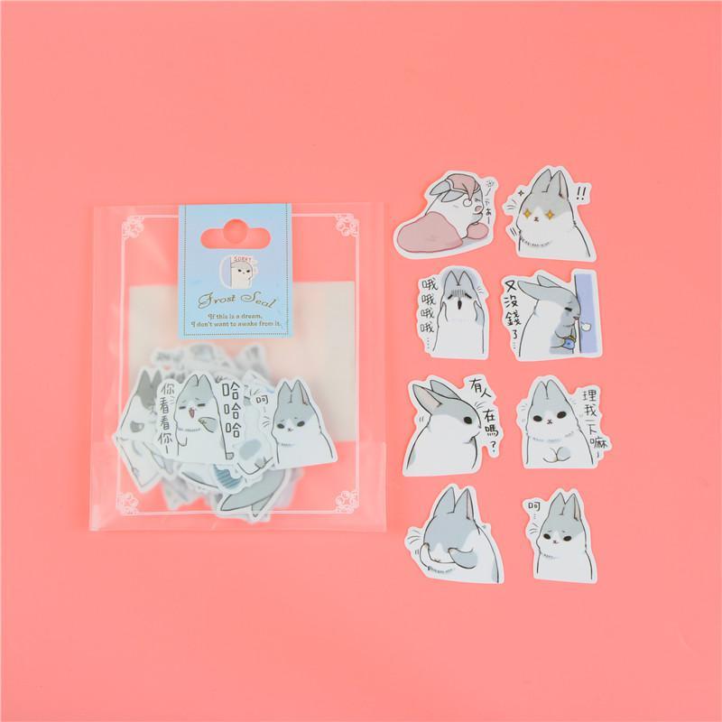 1 пакет, милые Мультяшные декоративные наклейки в Корейском стиле, клейкие наклейки, скрапбукинг, сделай сам, декоративные наклейки для дневника - Цвет: G