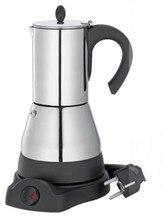 Freies Verschiffen Espresso Kaffeemaschine edelstahl Elektrische Moka Topf 220 V Euro Stecker