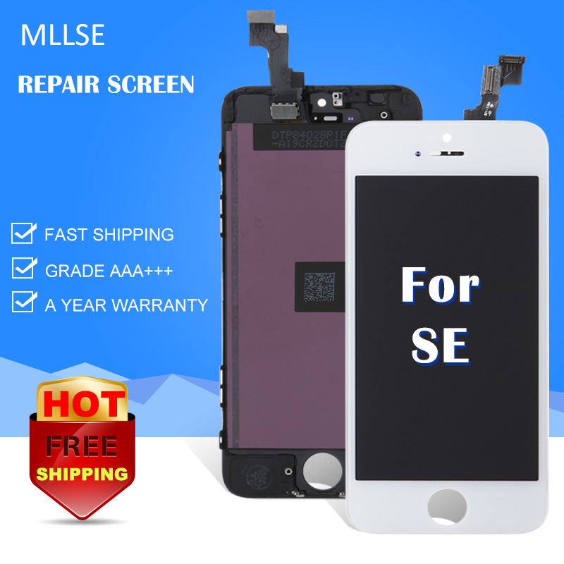 2017 NEW MLLSE For iphone SE 5S LCD Display with Touch Screen Digitizer Tools Full Assembly replacement Grade AAA 100% Tested buyton 100%brand new aaa lcd for iphone 6p 5 5 inch display touch screen digitizer assembly with touch screen gift