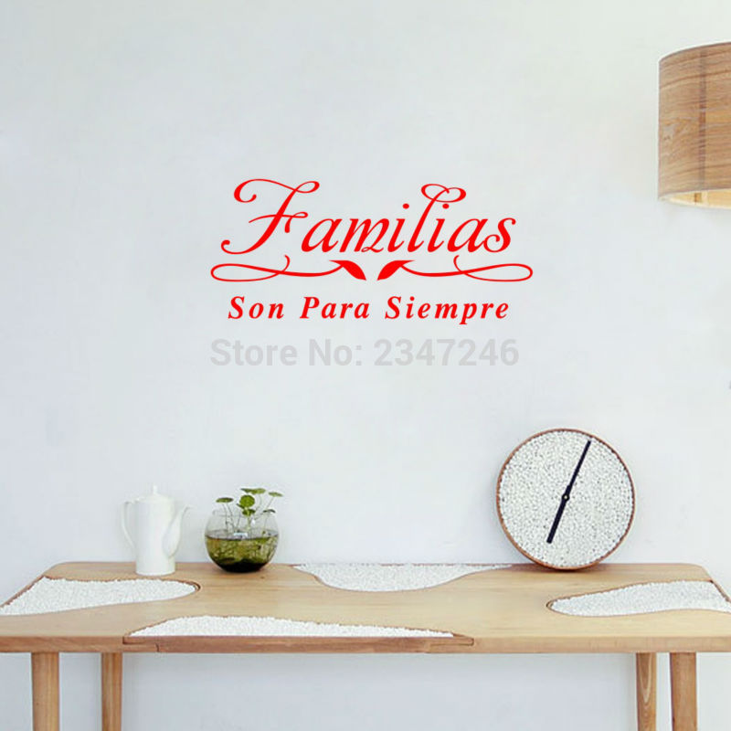 Diy Spanish House Rules Removable Wall Sticker Home Decoration Smile Every Day Love Enjoy Moment Quote