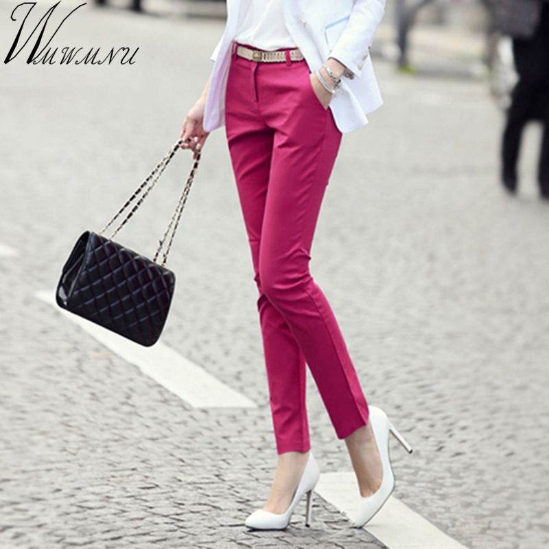 Wmwmnu brand slim women of OL office pants 2020 new arrival give Sashes pencil pants for OL office pants capris...