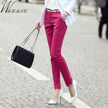 Wmwmnu brand slim women of OL office pants 2017 new arrival give Sashes pencil for capris