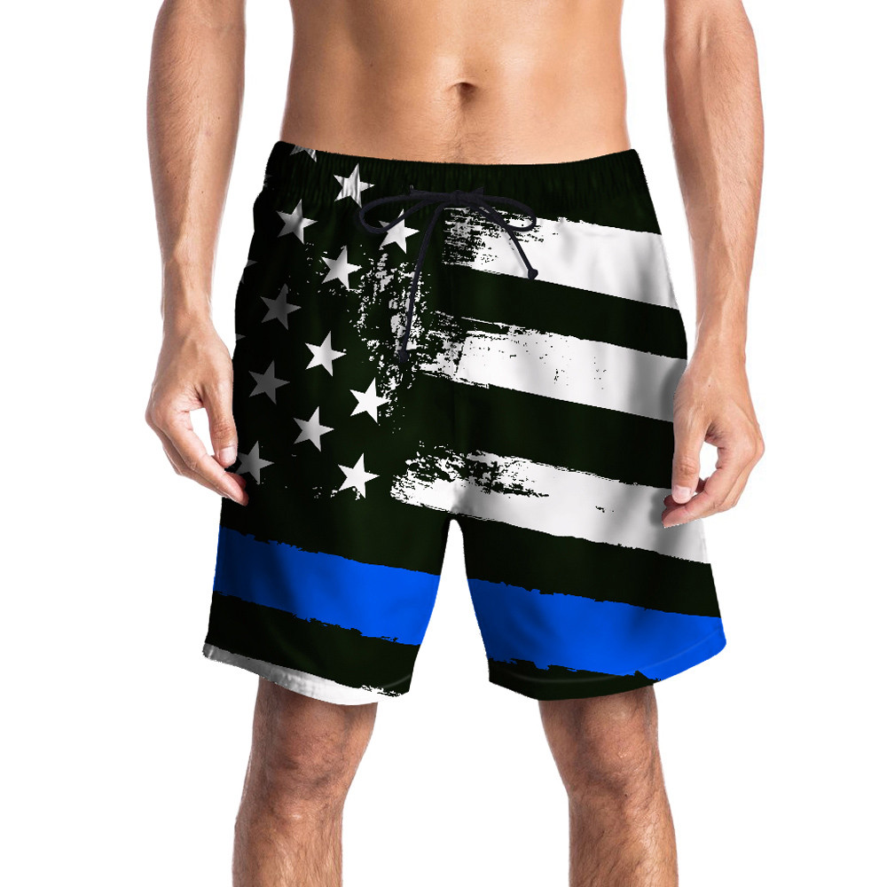Men Casual   Short   Stars Printed Beach 3D Work   Board     Shorts   Loose Flat Midweight Men's   shorts   maillot de bain #by