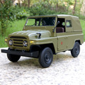 1/24 Scale Classical BeiJing Jeep Diecast Metal Pull Back Musical Flashing Car Model Toy For Collection/Gift/Kids