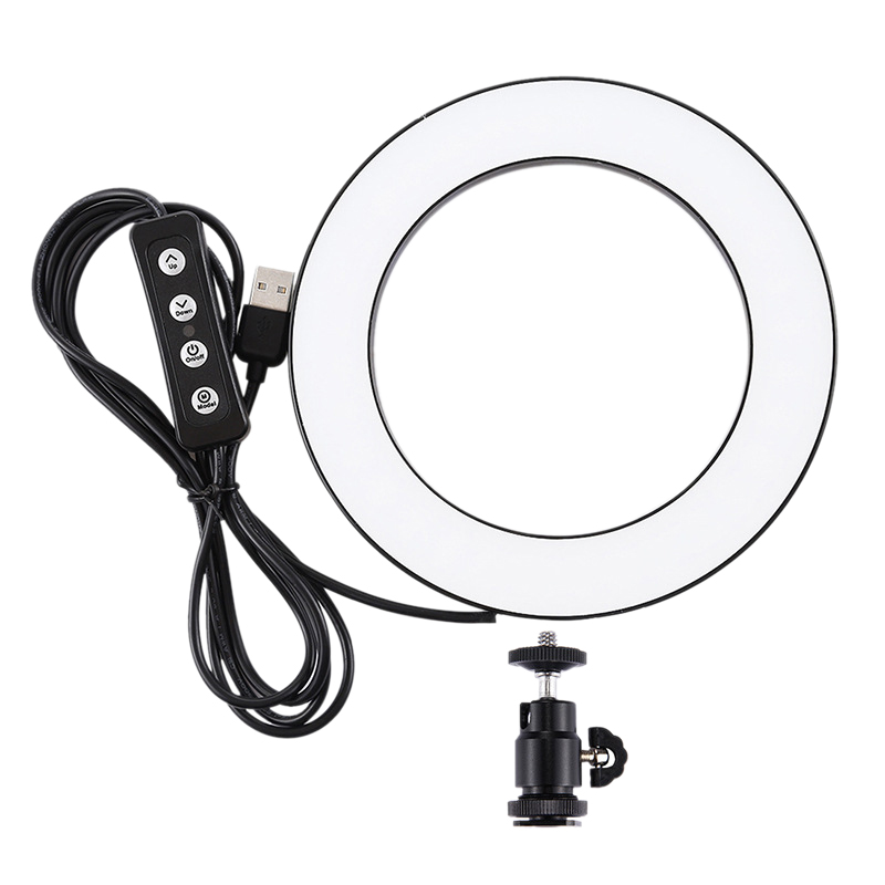 Puluz 4.6 Inch Usb 3 Modes Dimmable Photography Photographic Studio Ring Light Led Video Light & Cold Shoe Tripod Ball Head