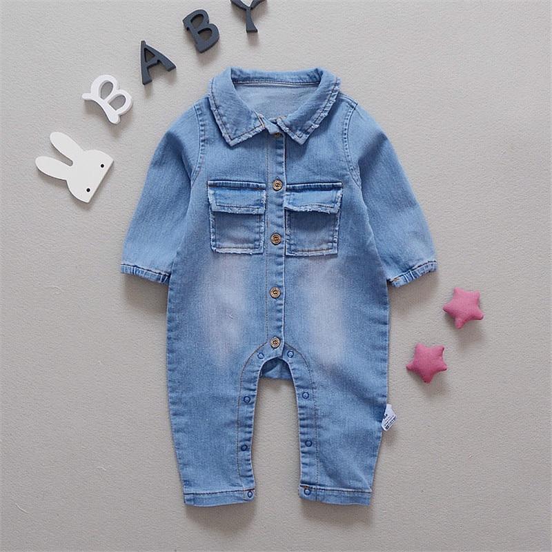8d921e92f4de Baby Romper Soft Denim Fashion Rainbow and Giraffe Styles Infant Clothes  Newborn Jumpsuit Babies Boy Girls