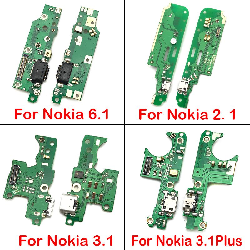 USB Charger Dock Connector Charging Port Microphone Flex Cable For Nokia 2.1/6.1/3.1/7.1/5.1 2018 Replacement Parts