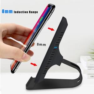 Image 5 - Bezprzewodowa ładowarka Qi stojak 10W szybkie ładowanie bezprzewodowa ładowarka do telefonu indukcja dla iPhone XS Max XR X 8 Samsung S8 S9 Plus