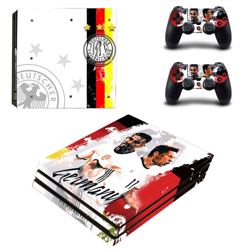 HOMEREALLY Sticker PS4 Pro Skin Football Star Club Custom Vinly Skin For Playstaion 4 Pro Console and Controller Skin Ps4 Pro