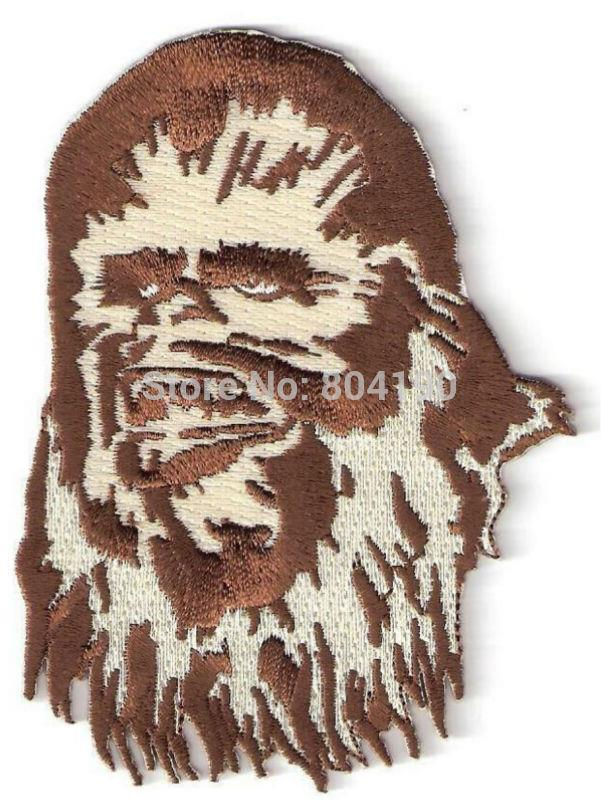 4 CHEWBACCA CHEWY Star Wars Character Sci Fi TV Movie Animated Costume Embroidered Emblem applique iron