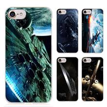 Star Wars Spaceship Science Fiction Clear Cell Phone Case Cover for Apple iPhone 4 4s 5 5s SE 5c 6 6s 7 7s Plus