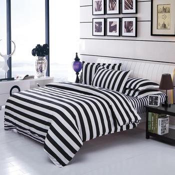 UNIKEA.. Двухцветные комплекты постельного белья, хлопковое черно-белое стильное постельное белье, пододеяльник, простыня, 3/4, двуспальные кров...