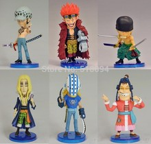 Anime One Piece Eustass Kid Basil Hawkins Trafalgar Law Apoo Killer Zoro PVC Action Figures Collectible Toys 6pcs/set OPFG371