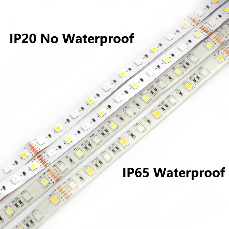 DC 5V 12V 24V RGB LED Strip PC Waterproof 5050 5M Flexible Led Strip Light RGB 5 12 24 V Tape Led Strip lamp Tv Backlight Ribbon in LED Strips from Lights Lighting