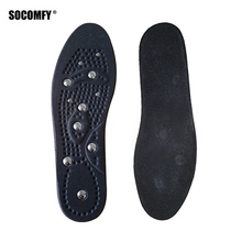 SOCOMFY Premium Magnetic Therapy Magnet Health Care Foot Massage Insoles Men/ Women Shoe Comfort Pads Magnet Insoles