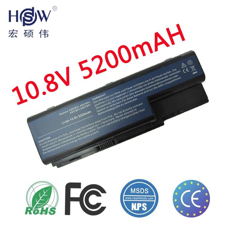 HSW de batería para Acer Aspire 5230, 5235, 5310, 5315, 5330, 5520, 5530 AS07B31 AS07B41 AS07B51 AS07B61 AS07B71 AS07B72 AS07B42 batería JIGU batería del ordenador portátil para Acer AS07B31 AS07B32 AS07B41 AS07B42 AS07B51 AS07B52 AS07B71 AS07B72 AS07B31 AS07B51 AS07B61