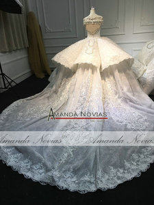 Image 2 - Роскошное Свадебное платье Дубая 2020 Amanda Novias, реальная работа 100%, высококачественное свадебное платье