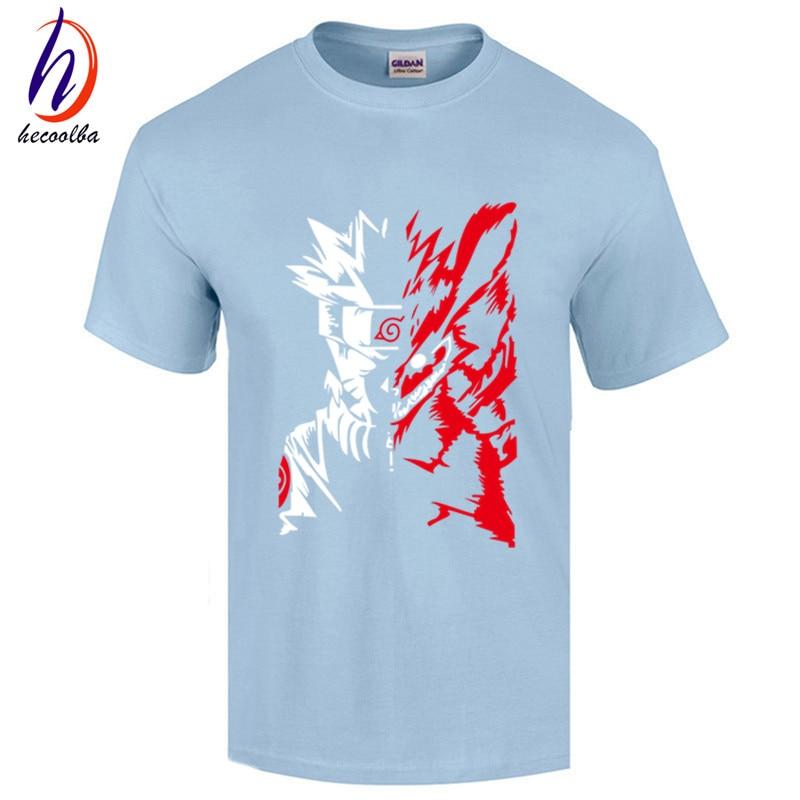 Naruto Logo Pattern Mens Short Sleeve T Shirt  Anime Crazy Store